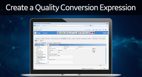 D400-1014 - D400 Configuration How2 - Create a quality conversion expression
