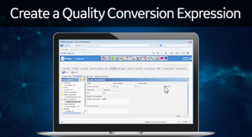 D400-1014 - D400 Configuration How2 - Create a quality conversion expression