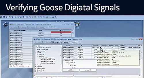 UR-1049 - RxGOOSE Boolean - Verifying GOOSE digital signals