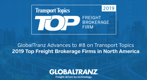 GlobalTranz Advances to #8 on Transport Topics' Top Brokerages List