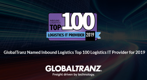 GlobalTranz Named Inbound Logistics Top 100 Logistics IT Provider for 2019