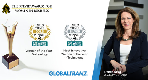 GlobalTranz CEO Honored for Leadership in Technology by Stevie Awards' Women in Business Program
