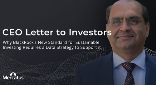 Why BlackRock's New Standard for Sustainable Investing Requires a Data Strategy to Support it