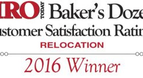 Graebel Awarded First-Place in HRO Today Magazine's Relocation Baker's Dozen