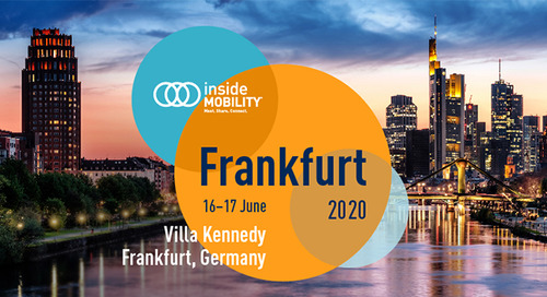 SAVE THE DATE: insideMOBILITY® Frankfurt 2020