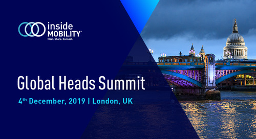 insideMOBILITY Global Heads Summit, London 2019: Event Highlights