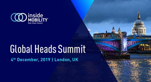 insideMOBILITY Global Heads Summit, London 2019: Event Highlights