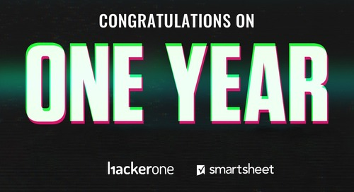 Smartsheet Celebrates One Year with HackerOne