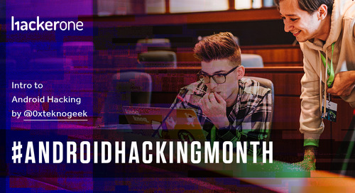 #AndroidHackingMonth: Introduction to Android Hacking by @0xteknogeek