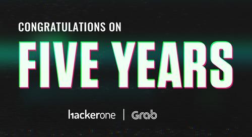 Grab Celebrates 5 Years on HackerOne