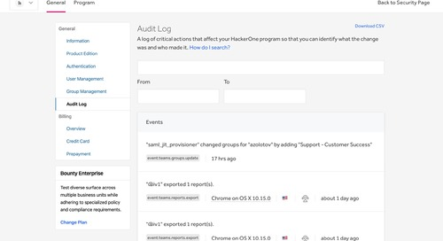 Announcing Program Audit Log