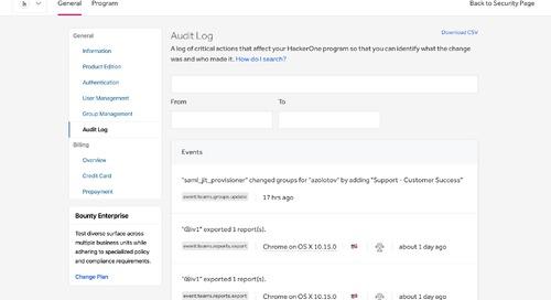 Announcing Program Audit Log