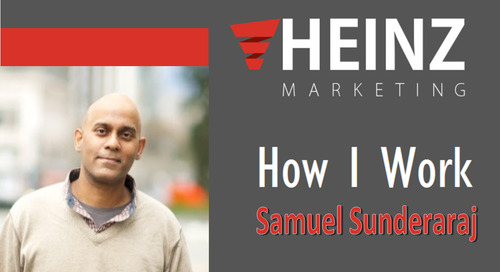 """How I Work"":  Samuel Sunderaraj, vice president of growth operations at LiveStories @V_samuelSun #HowIWork"
