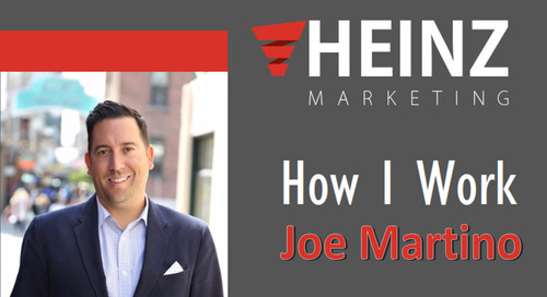 """How I Work"": Joe Martino, Sr Director Global Sales & Business Development Appuri  @Advisor__Joe #HowIWork"