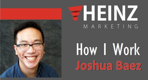 """How I Work"":  Joshua Baez, Marketing Coordinator for Heinz Marketing @joshthebasil #HowIWork"