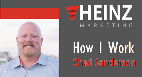 """How I Work"":  Chad Sanderson, Managing Partner, Value Prime Solutions @sandersonc #HowIWork"