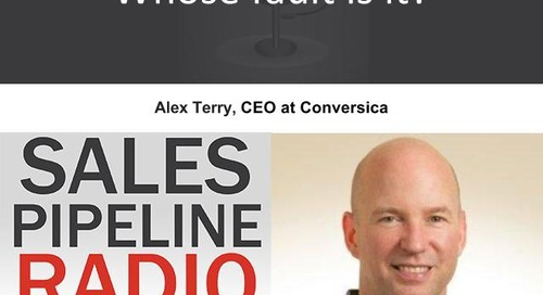 Sales Pipeline Radio, Episode 99: Q&A with Alex Terry
