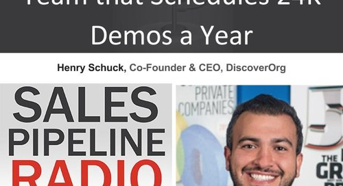 Sales Pipeline Radio, Episode 98: Q&A with Henry Schuck