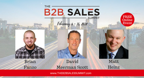 Nine days, 30 speakers, zero travel: Join me for The B2B Sales Summit