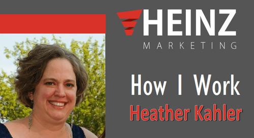 """""""How I Work"""":  Heather Kahler, VP of Customer Exeperience at PFL @sunshinegrrrl #HowIWork"""
