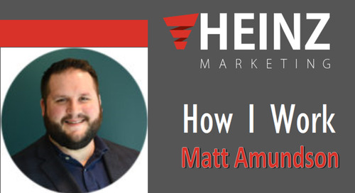 """How I Work"":  Matt Amundson, VP of Marketing and Sales Development for EverString @mattya56 #HowIWork"