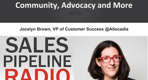 Sales Pipeline Radio, Episode 104: Q&A with Jocelyn Brown
