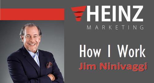 """""""How I Work"""":  Jim Ninivaggi – Chief Readiness Officer, Brainshark, Inc. @JNinivaggi #HowIWork"""