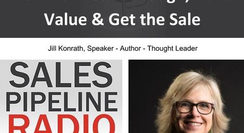 Sales Pipeline Radio, Episode 106: Q&A with Jill Konrath @jillkonrath