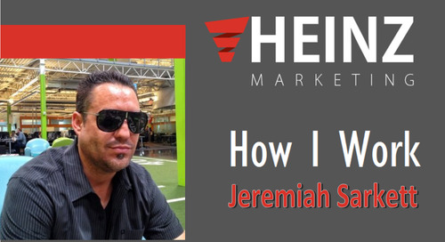 """How I Work"":  Jeremiah Sarkett, Executive Sales and Marketing Guru at Infusionsoft @JSarkett #HowIWork"