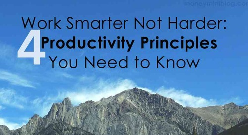 Some thoughts (and four words) on productivity