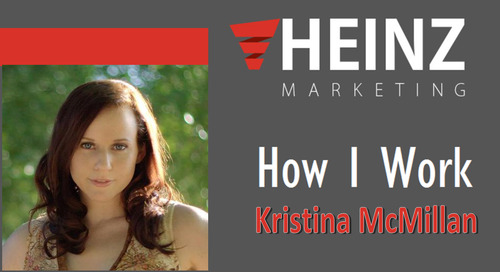 """How I Work"":  Kristina McMillan, VP of Research for TOPO @Lifeiterated #HowIWork"