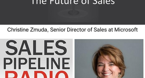 Sales Pipeline Radio, Episode 110: Q&A with Christine Zmuda @czmuda