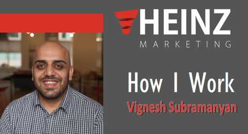 """How I Work"":  Vignesh Subramanyan, Senior ABM & Demand Gen Manager, Radius Intelligence @v_subramanyan #HowIWork"