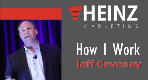 """""""How I Work"""":  Jeff Coveney, President at RevEngine Marketing @RevEngineMarket #HowIWork"""