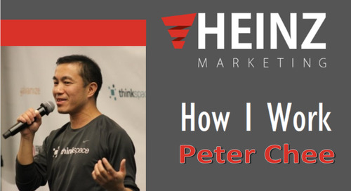 """""""How I Work"""":  Peter, Chee, Founder and CEO of Thinkspace @thinkspace #HowIWork"""