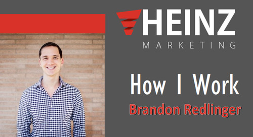 """How I Work"":  Brandon Redlinger, Director of Growth at Engagio @Brandon_Lee_09 #HowIWork"