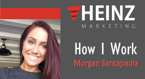 """How I Work"":  Morgan Santapaola event marketing manager for ZoomInfo @MorganJoelle25 #HowIWork"