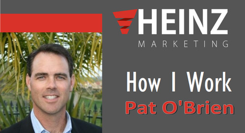 """""""How I Work"""":  Pat O'Brien, Chief Revenue Officer and Principal at Enterprise Technology Market #HowIWork"""