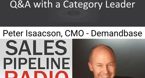 Sales Pipeline Radio, Episode 120: Q&A with Peter Isaacson @peisaacson