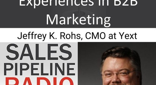 Sales Pipeline Radio, Episode 119: Q&A with Jeffrey K. Rohrs @jkrohrs