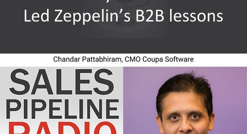 Sales Pipeline Radio, Episode 124: Q&A with Chandar Pattabhiram @chandarp