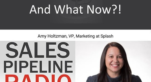 Sales Pipeline Radio, Episode 123: Q&A with Amy Holtzman @demandmarketer