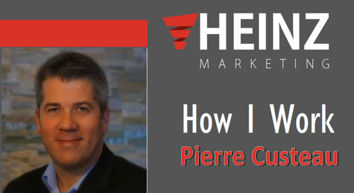 """How I Work"":  Pierre Custeau Vice President of Product Management Eloqua at Oracle @pierrecusteau #HowIWork"
