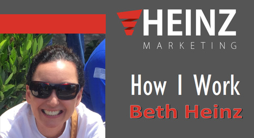 """How I Work"":  Beth Heinz, Matt Heinz's Better Half #HowIWork"