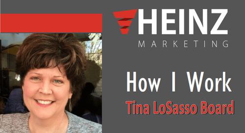 """How I Work"":  Tina LoSasso Board, President of Make It So Marketing @LadySalesDog #HowIWork"