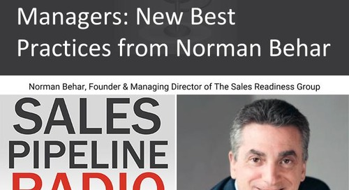 Sales Pipeline Radio, Episode 128: Q&A with Norman Behar @NormanBehar