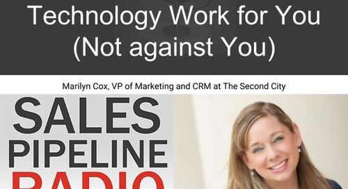 Sales Pipeline Radio, Episode 129: Q&A with Marilyn Cox @MarilyECox