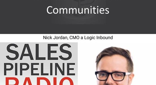 Sales Pipeline Radio, Episode 126: Q&A with Nick Jordan @nickfromseattle