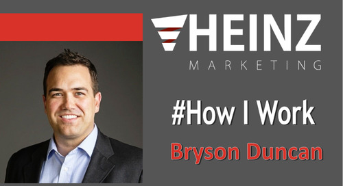 """How I Work"":  Bryson Duncan, Senior Manager, Integrated Marketing Programs at Workfront @BrysonDD #HowIWork"
