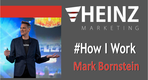 """How I Work"":  Mark Bornstein, VP of Content Marketing at ON24 @4markb #HowIWork"